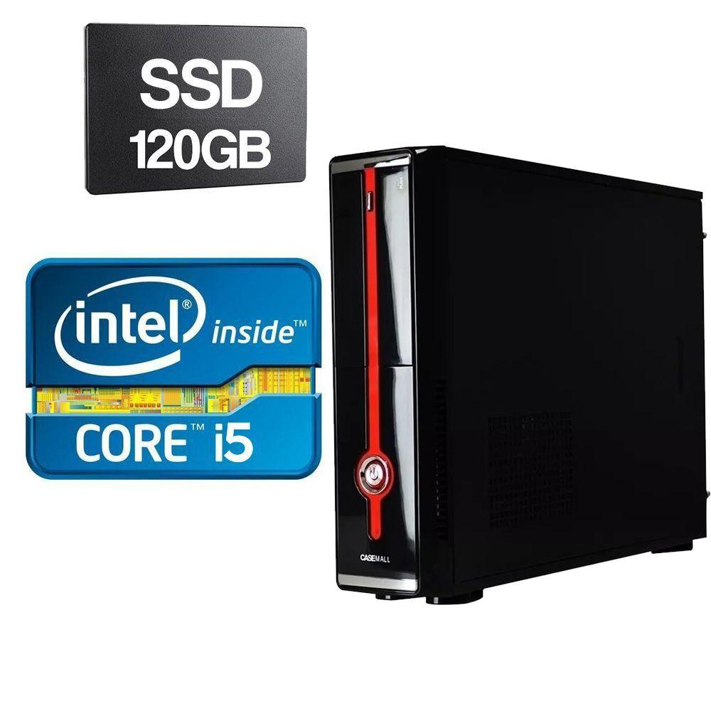 Computador Slim Home CPU Intel Core I5 650 3.20GHZ 4GB DDR3 SSD 120GB