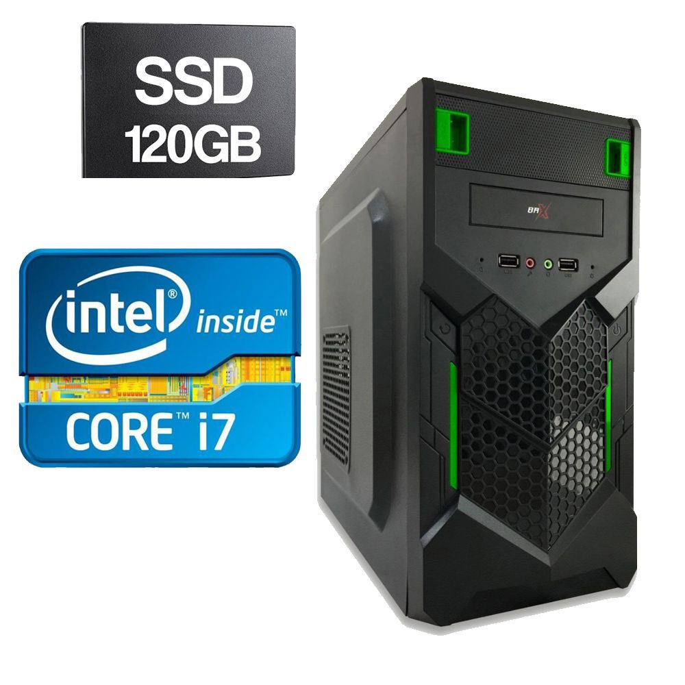 Computador Home CPU Intel Core I7 3770 3.4GHZ 4GB DDR3 SSD 120GB