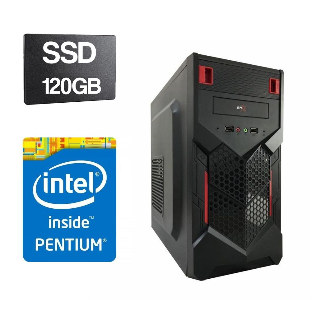 Computador Home CPU Intel Pentium Dual Core G2030 3.0GHZ 4GB DDR3 SSD 120GB