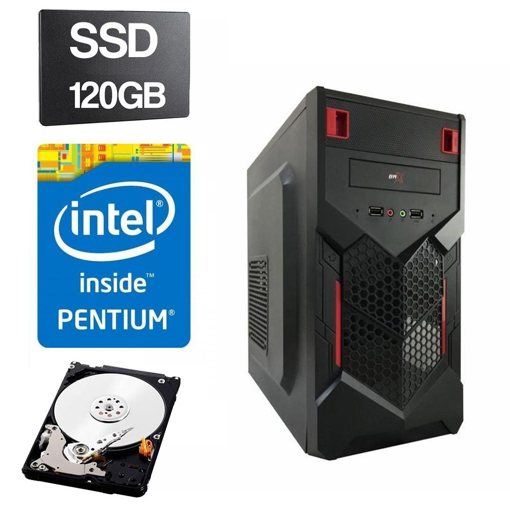 Computador Home CPU Intel Pentium Dual Core G2030 3.0GHZ 4GB DDR3 SSD 120GB HD 320GB