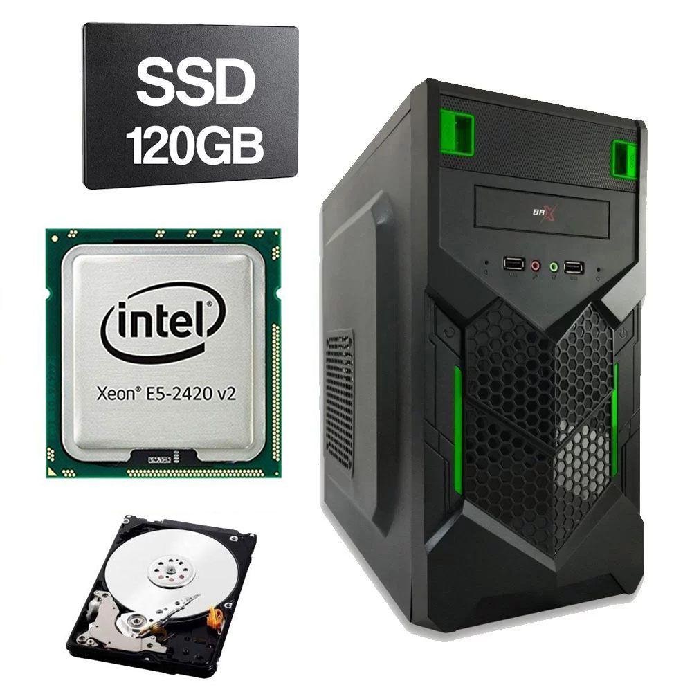 Computador Home CPU Intel Xeon E5 2420 V2 2.2GHZ 1356 8GB DDR3 SSD 120GB HD 1TB