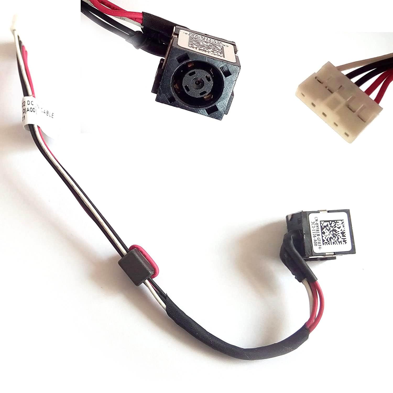 Conector Power Jack for Dell Inspiron 17R-5721 15R-5521 15R-3521 17-3721 PN: DC30100MB00 DC30100M800 1K31Y 01K31Y - Novo