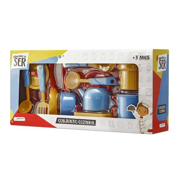 Conjunto Cozinha com Acessórios Azul/Amarelo Multikids - BR956