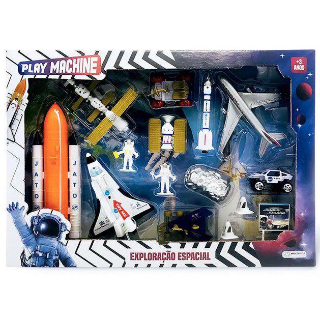 Conjunto de Veículos - Play Machine - Exploração Espacial - Multikids BR1037