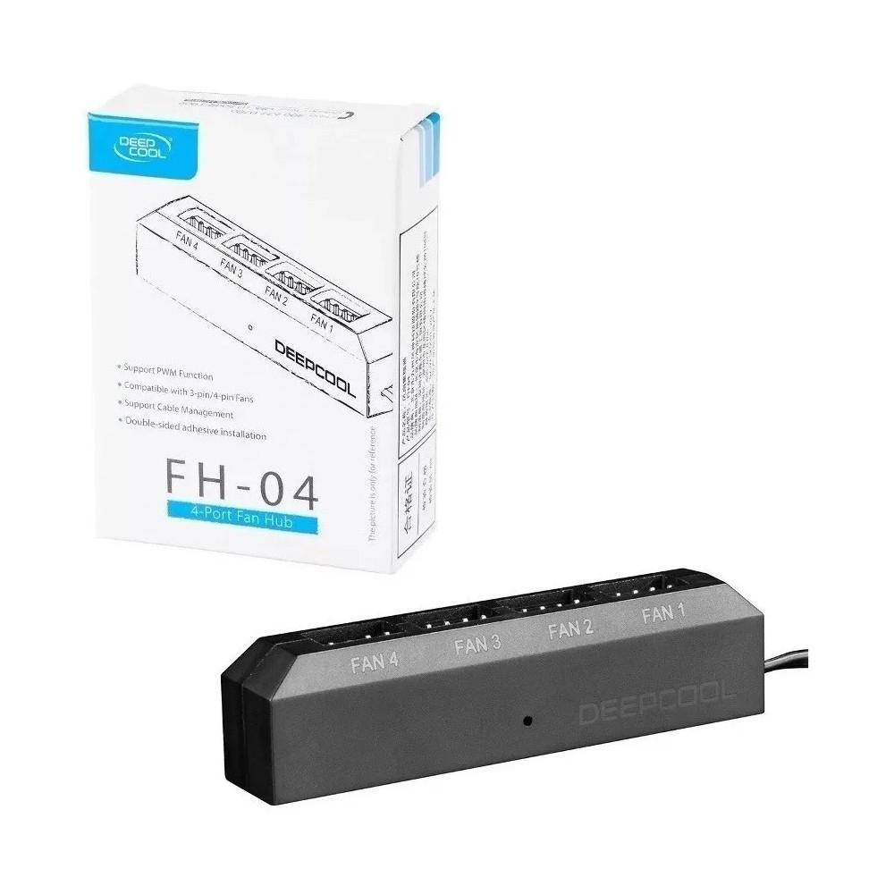 Controlador de Fan Deepcool Preto Hub P/ 4 Fans - FH-04