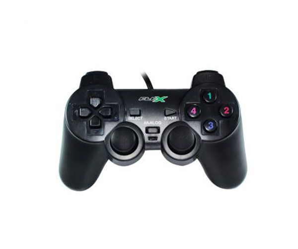 Controle Analógico Dualshock USB Gamer PC FX-JOYUSB - FlexGold