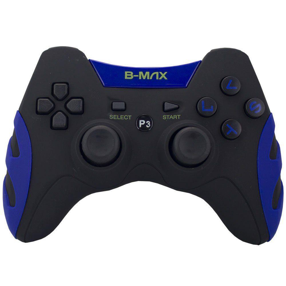 Controle Dualshock 2x1 Ps3 Pc C/ Fio BM-028 Azul
