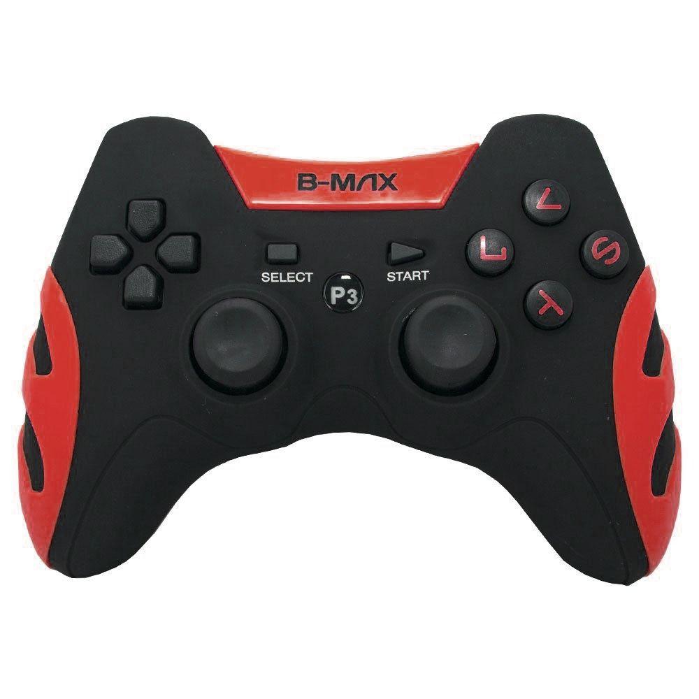 Controle Dualshock 2x1 Ps3 Pc C/ Fio BM-028 Vermelho