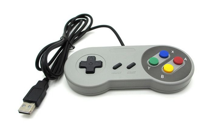 Controle Joystick USB Estilo Super Nintendo