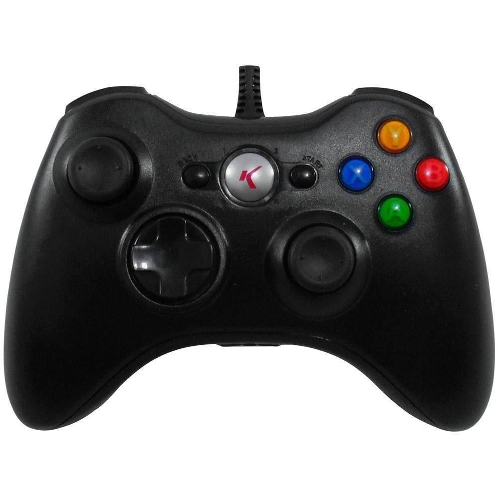 Controle Para PC USB Com Fio Função Vibração E Analógico - XTrad XD531