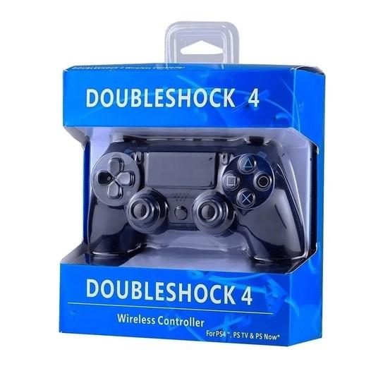 Controle Ps4 Doubleshock Sem Fio 2m Joystick Pc Bluetooth C/ Vibração Preto - DOUBLESHOCK 4