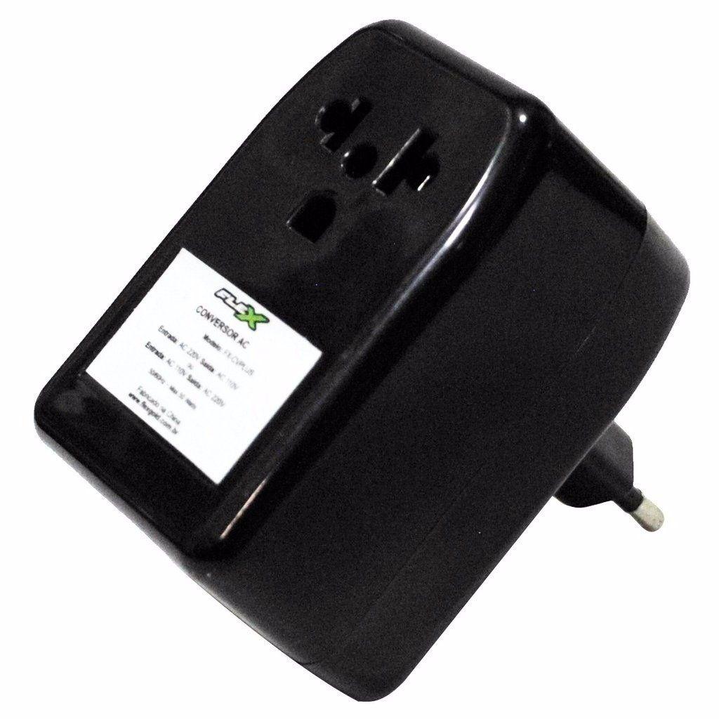 Conversor de voltagem 110V p/ 220V ou 220V p/ 110V Flex Gold FX-CV/PLUS