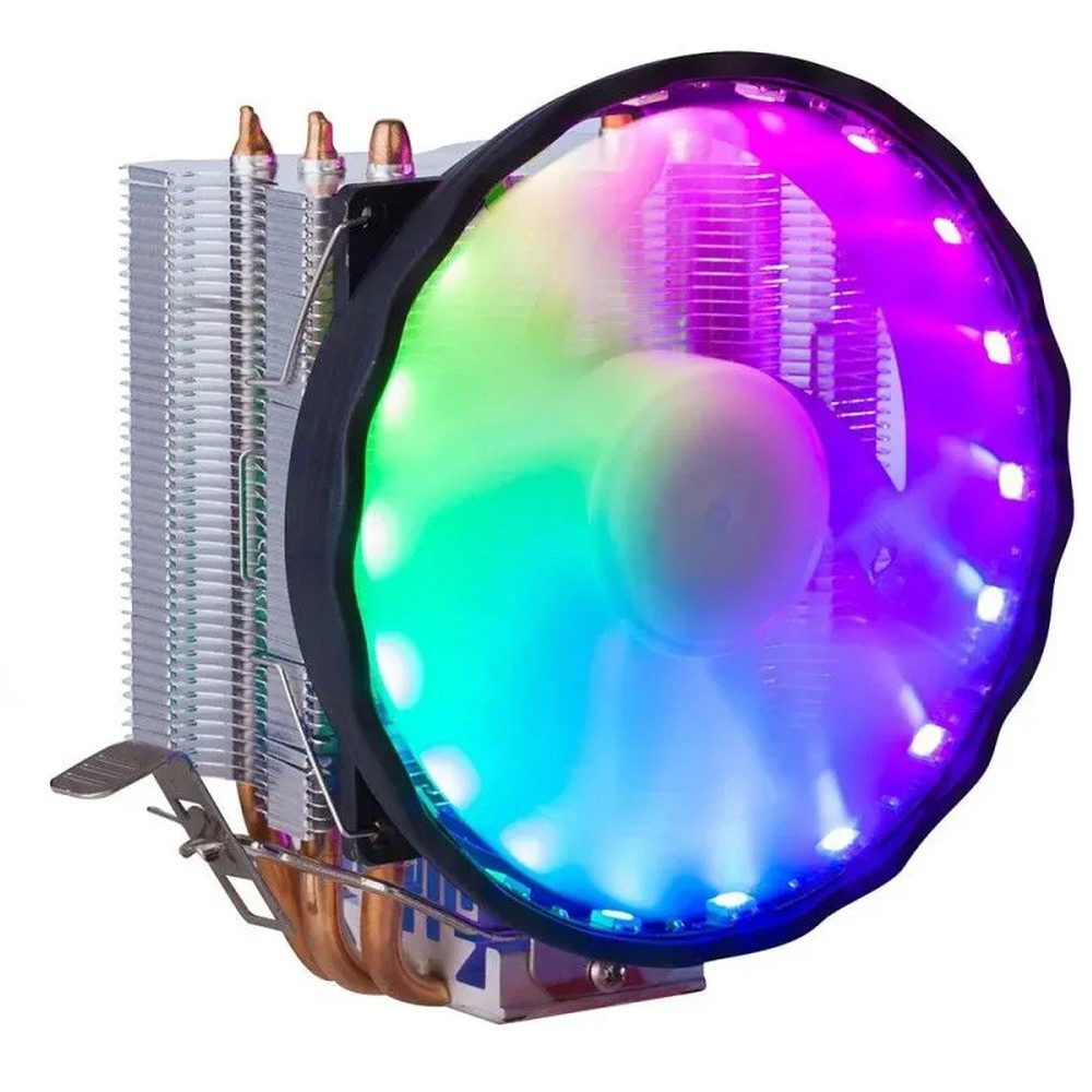 Cooler DEX P/ Processador INTEL/AMD 120mm LED/Dissipador PWM PLUS RGB - DX-2018
