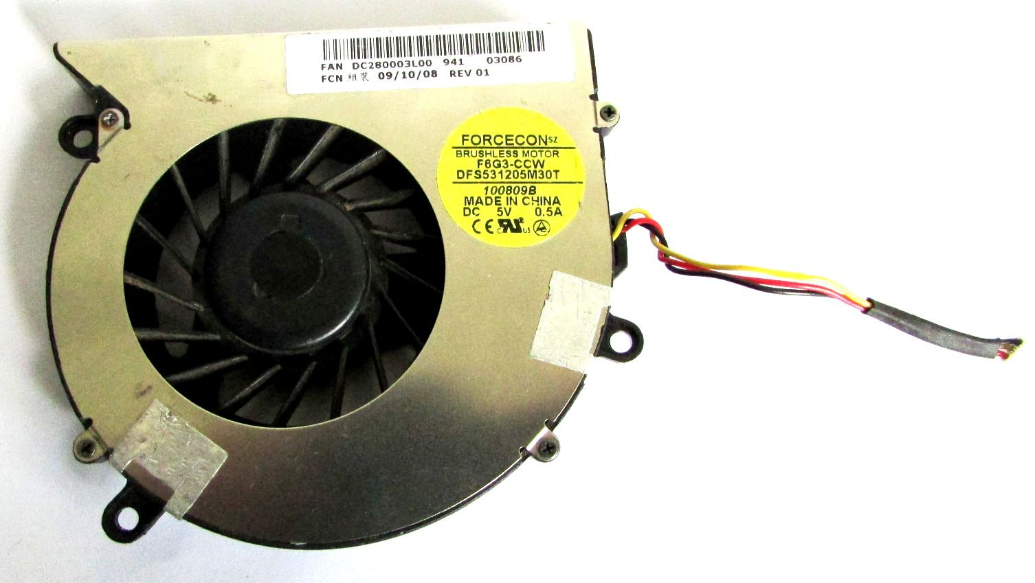 Cooler Notebook Acer 5220 5310 5315 Dc280003l00 F6g3ccw (semi novo)