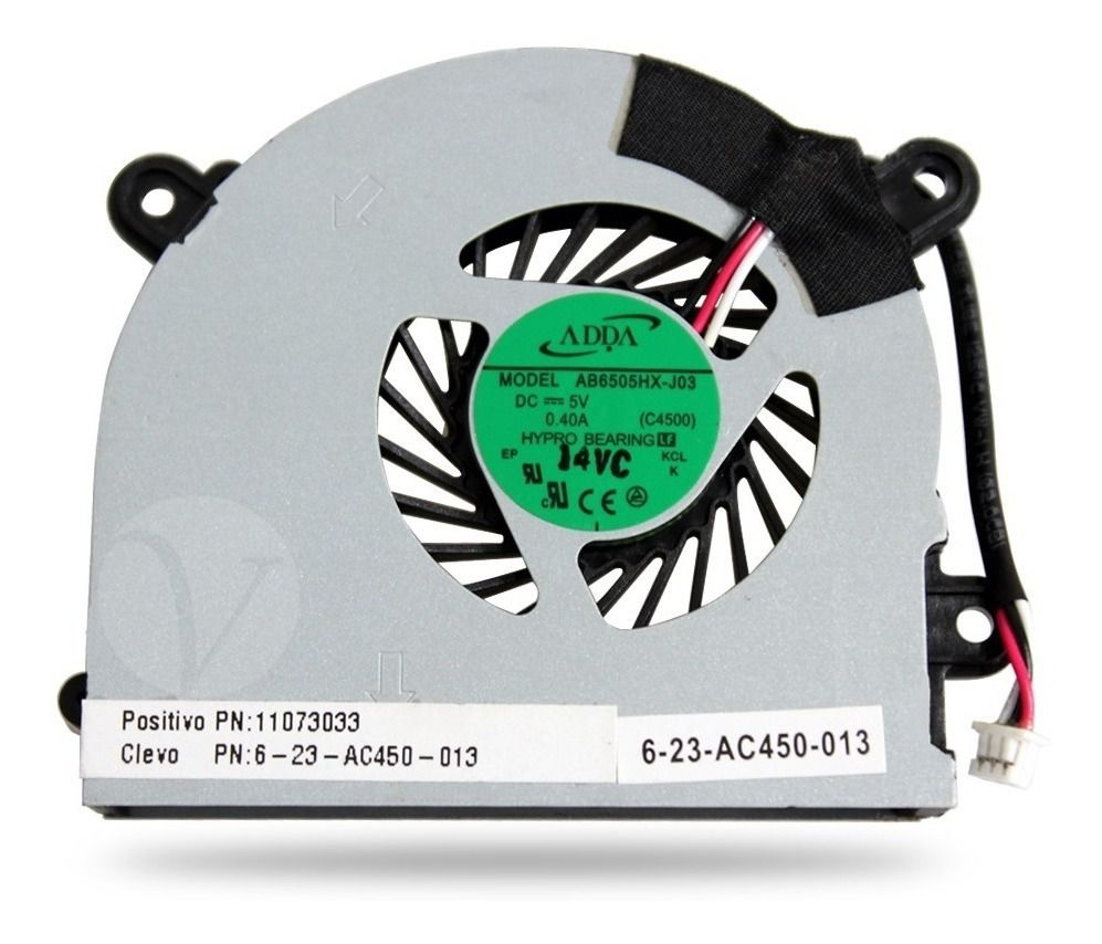 Cooler Notebook Positivo Itautec W345 6-23-ac450-013 Ab6505h  semi nova