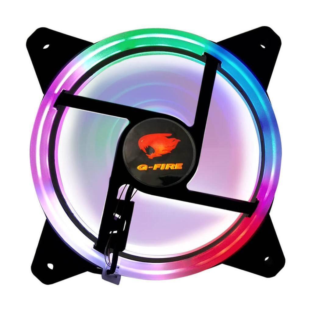 Cooler P/ Gabinete Fan Gamer G-fire Rainbow 120x120x25mm Led Rgb - EW0509R