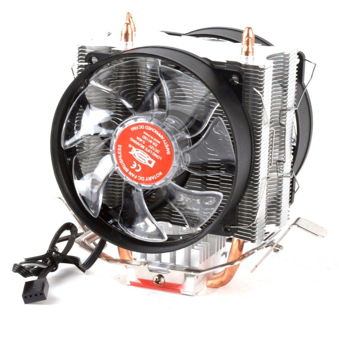Cooler Para Cpu Duplo C/ 15 Leds Vermelho Dx-9115d
