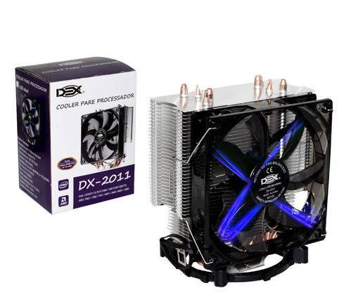 Cooler para Processador com Led Azul DX-2011 2011 775 1151 1150 AM3 AM2 130W