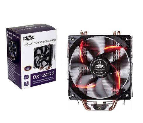 Cooler para Processador com Led Vermelho DX-2011  2011 775 1151 1150 AM3 AM2 130W