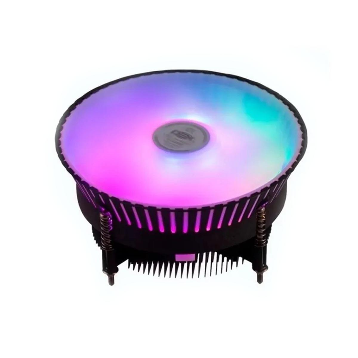 Cooler Parafusado DEX P/ Processador Linha Lga 115x C/6 Led Argb - Dx-9007