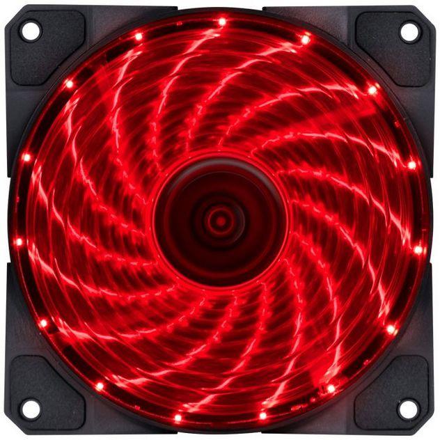 Cooler Vx Gaming V.lumi 15 Pontos 12x12cm Led Vermelho Vinik