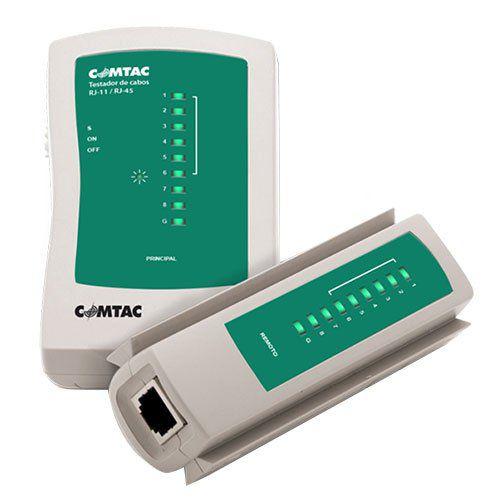 Testador De Cabo De Rede Rj-45/Rj-11 Comtac - 9220