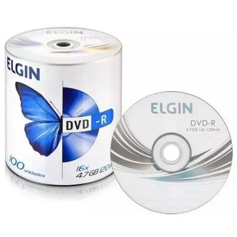 Dvd-r Elgin 8x 16x 4.7gb C/logo - 100 Unidades