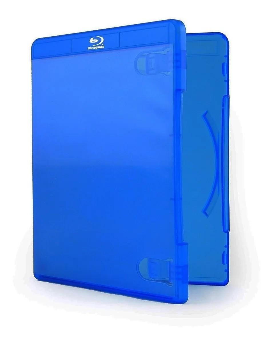 Estojo Capa Box Azul P/ Bluray Dvd Cd Caixa C/ 100 Unidades