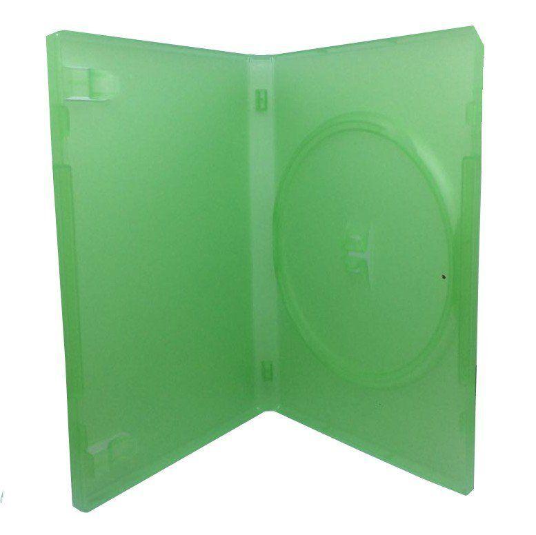 Estojo Capa Dvd Box  Verde Claro Tradicional Pacote C/5 Unidades