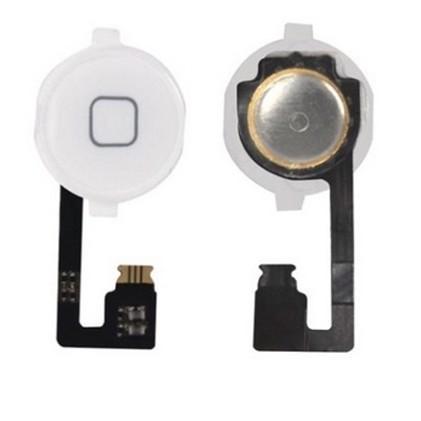 Flex Conector Botão Home Compatível iPhone 4g Branco