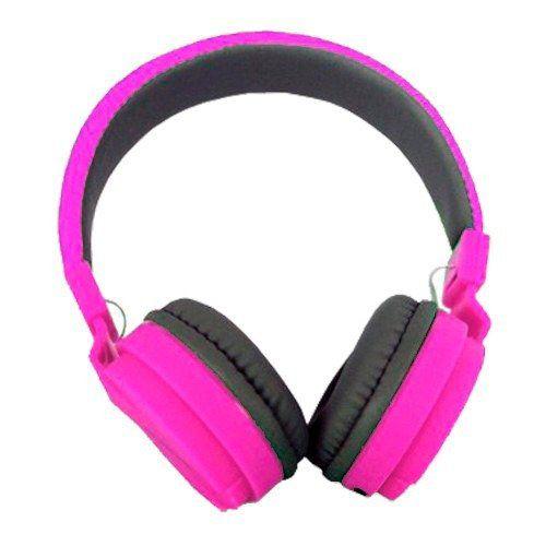 Fone De Ouvido Headset Dobravel EJ-007 Rosa