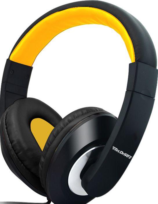 Fone de Ouvido Headset para PC F-3 Amarelo - TecDrive