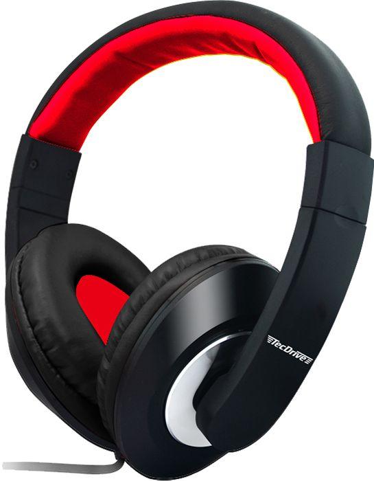 Fone de Ouvido Headset para PC F-3 Vermelho - TecDrive