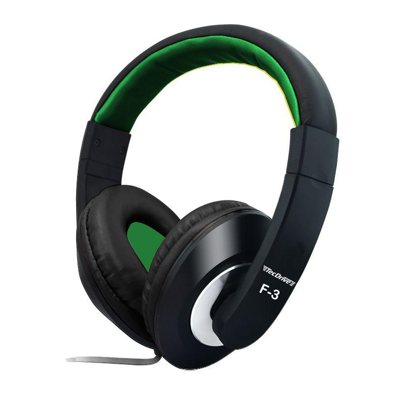 Fone de Ouvido Headset para PC F-3 Verde - TecDrive