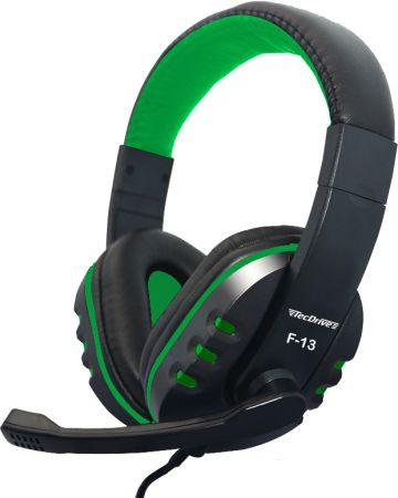 Fone de Ouvido Headset para PC/PS4 F-13 Verde - TecDrive