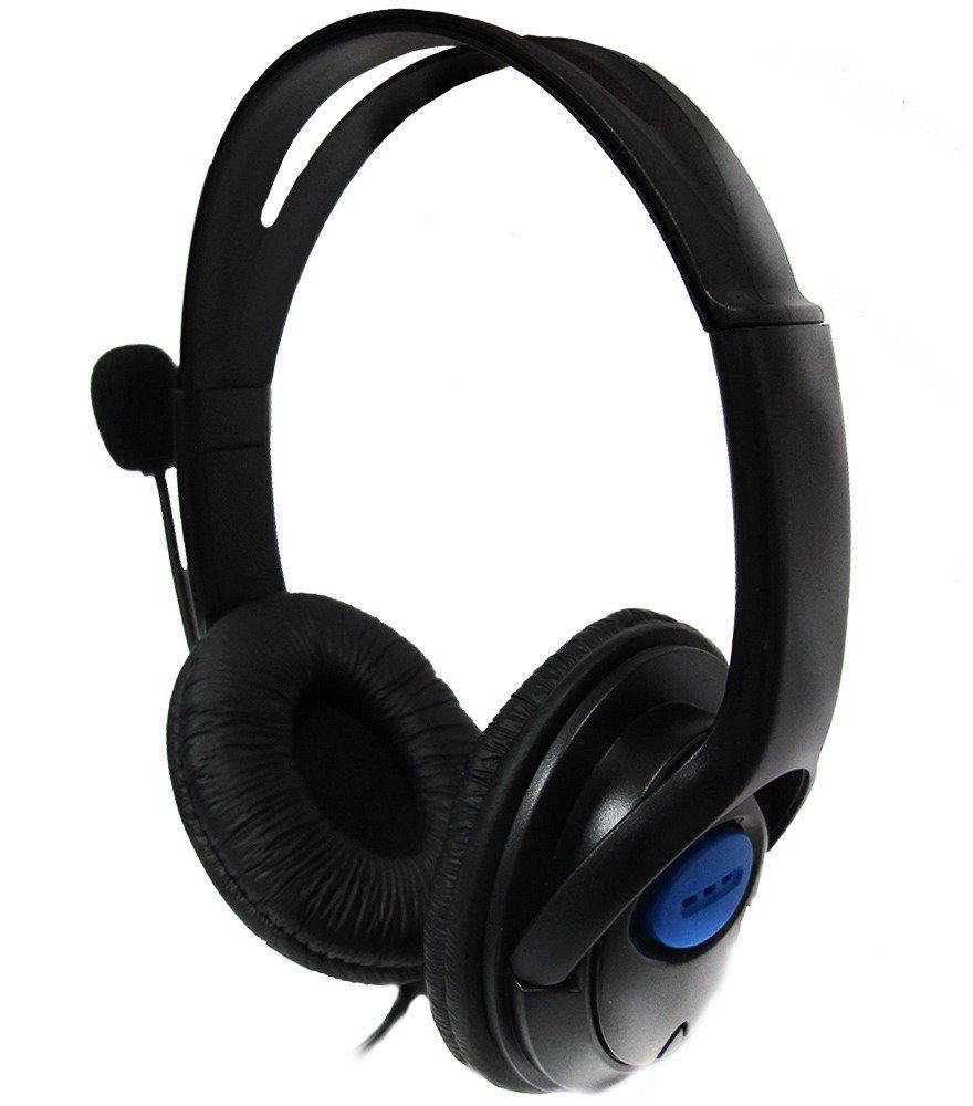 Fone De Ouvido Headset Ps4 Preto Dex Df-400 C/ Audio microfone Em 1 P3