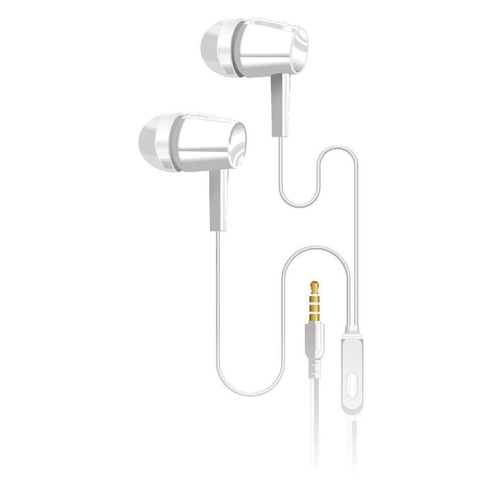 Fone de Ouvido Intra Auricular Ep-01whx C3tech Branco