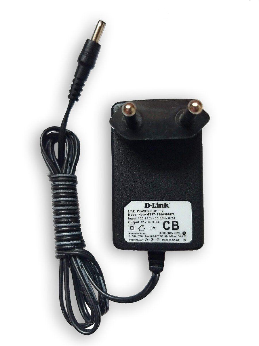 Fonte 12v 0,5a Bivolt Plug Fino P/ Roteadores Dlink