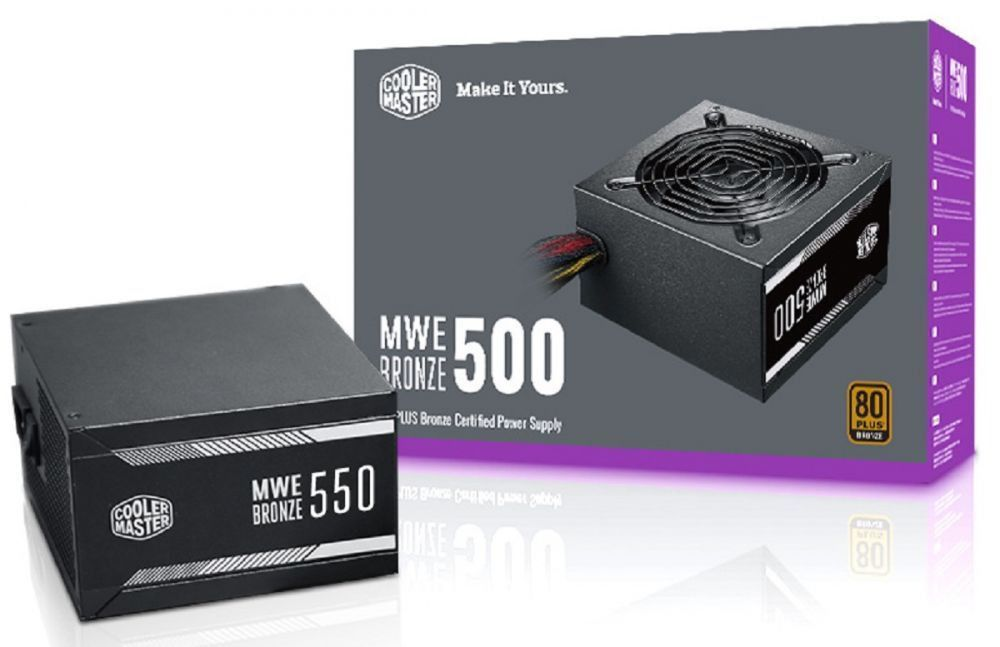 Fonte Cooler Master 500W 80 Plus Bronze MWE - MPX-5001-ACAAB-WO