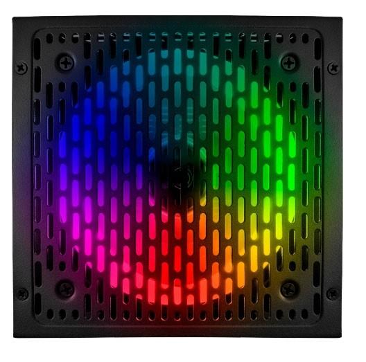 Fonte Gamer RGB BRX Rainbow 850W 80 PLUS Bivolt Automática PFC Ativo - PowerSupply