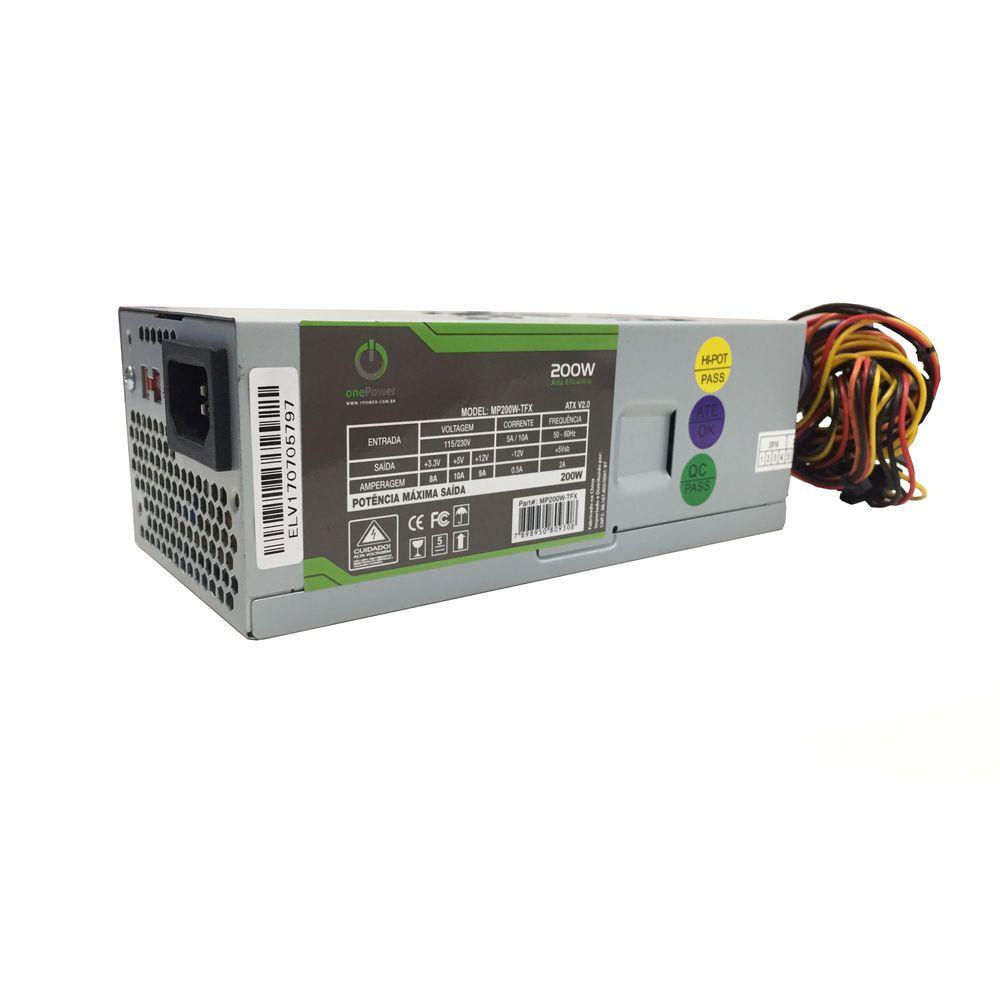 Fonte One Power 200W Reais - MP200W-TFX