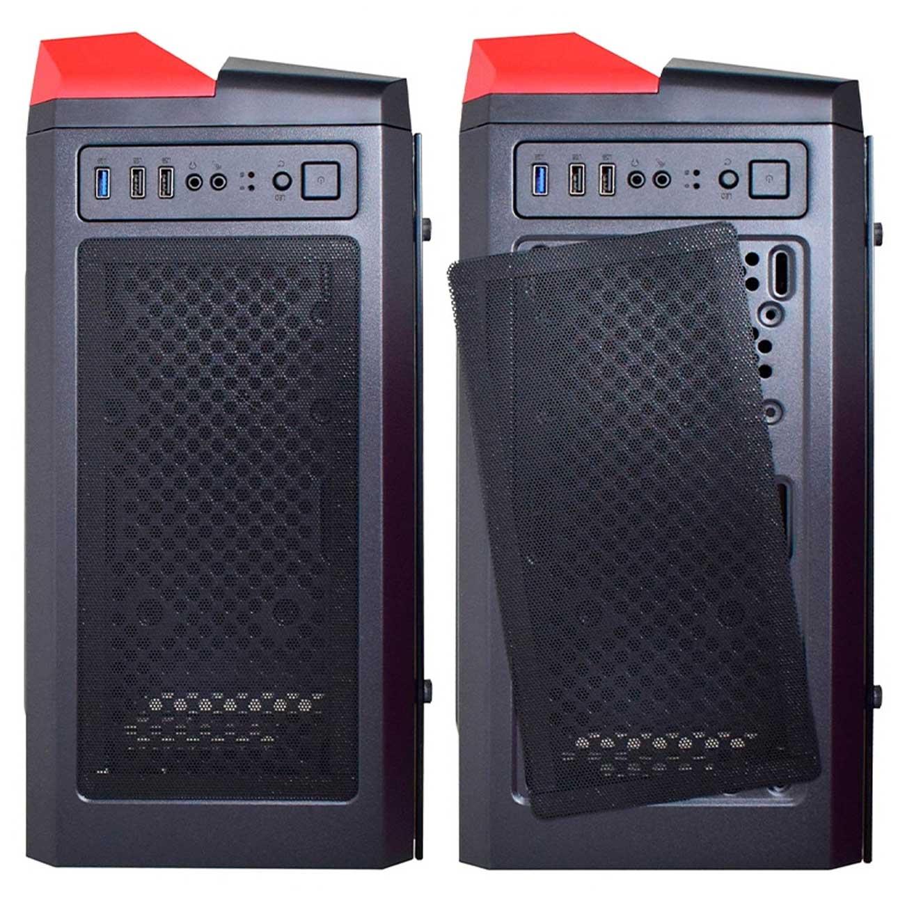Gabinete Gamer K-Mex Hawk 3 LED RGB Painel Lateral de Vidro Temperado Sem Fonte Mid Tower - CG-03Qi