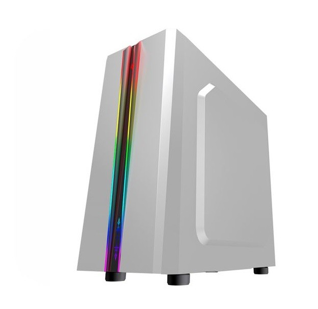 Gabinete Gamer K-mex Odyssey Cg05rd Led Frontal Rgb Rainbow S/ Fan