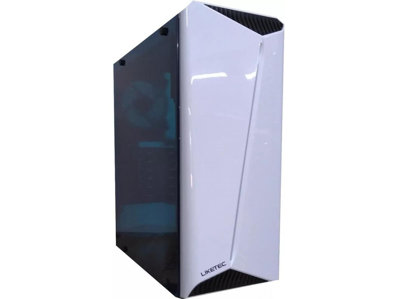 Gabinete Gamer Liketec Lighting White 1 Fan RGB LED