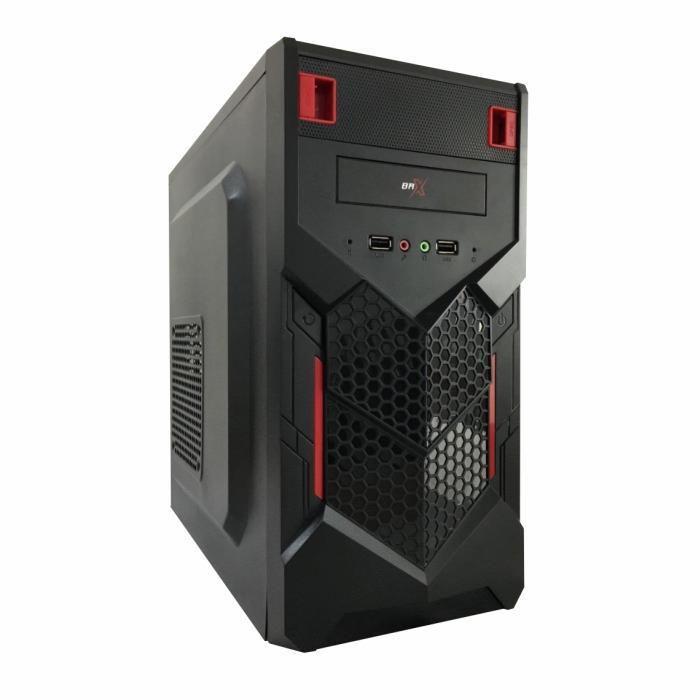 Gabinete Micro Atx Gamer Brx P015 Vermeho Red 2 Baias  S/ Fonte