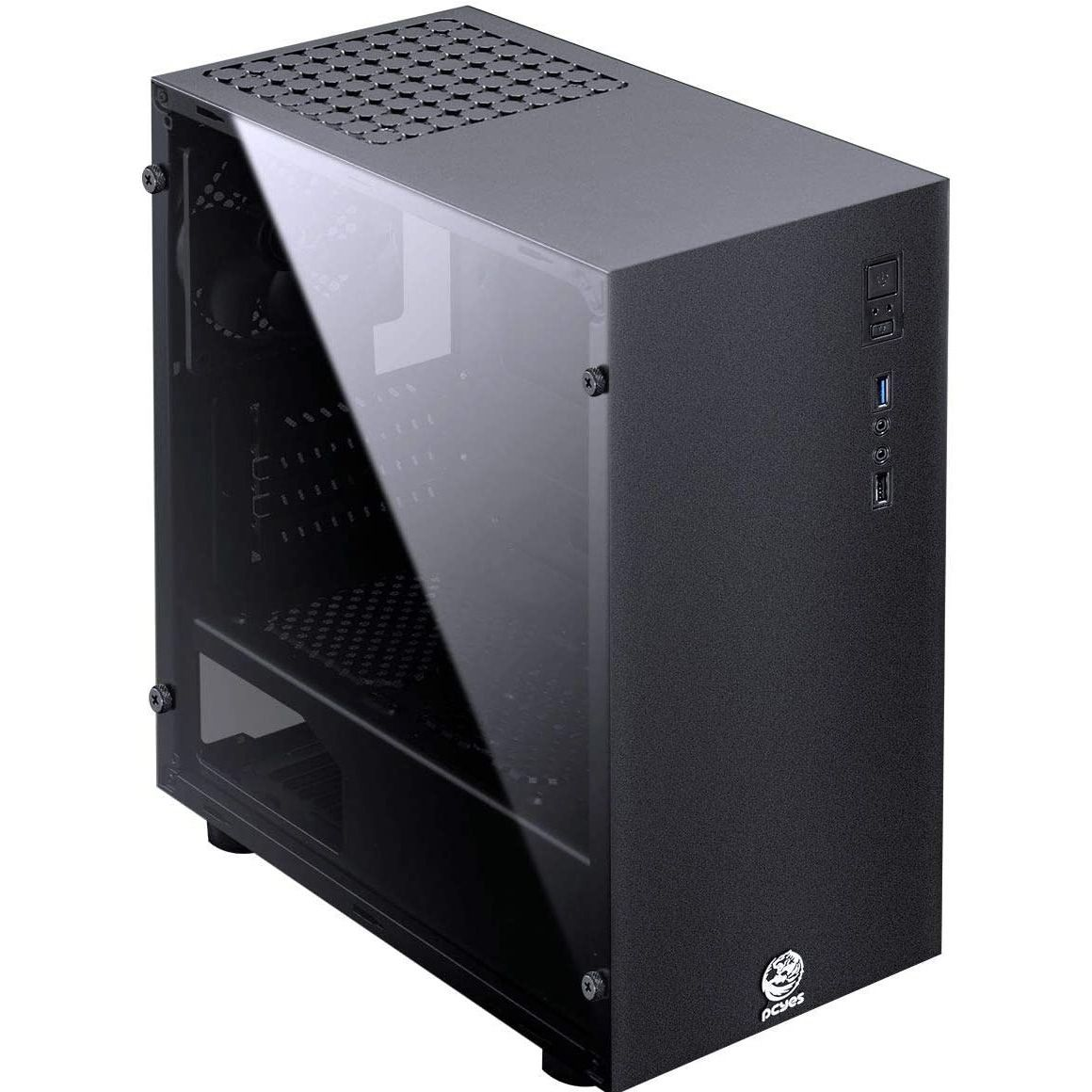 Gabinete PC YES Mid Tower Terra 2 FANS Lateral Acrílico Preto - TERPT2FCA