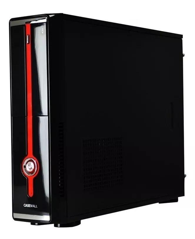 Gabinte ATX Casemall Slim Red Vermelho S104-R S/ Fonte