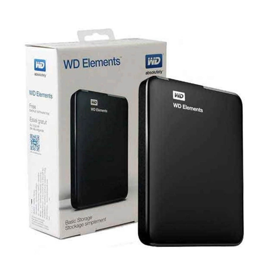 HD Externo 1TB Usb 3.0 Portatil Wd Elements Preto - WDBUZG0010BBK