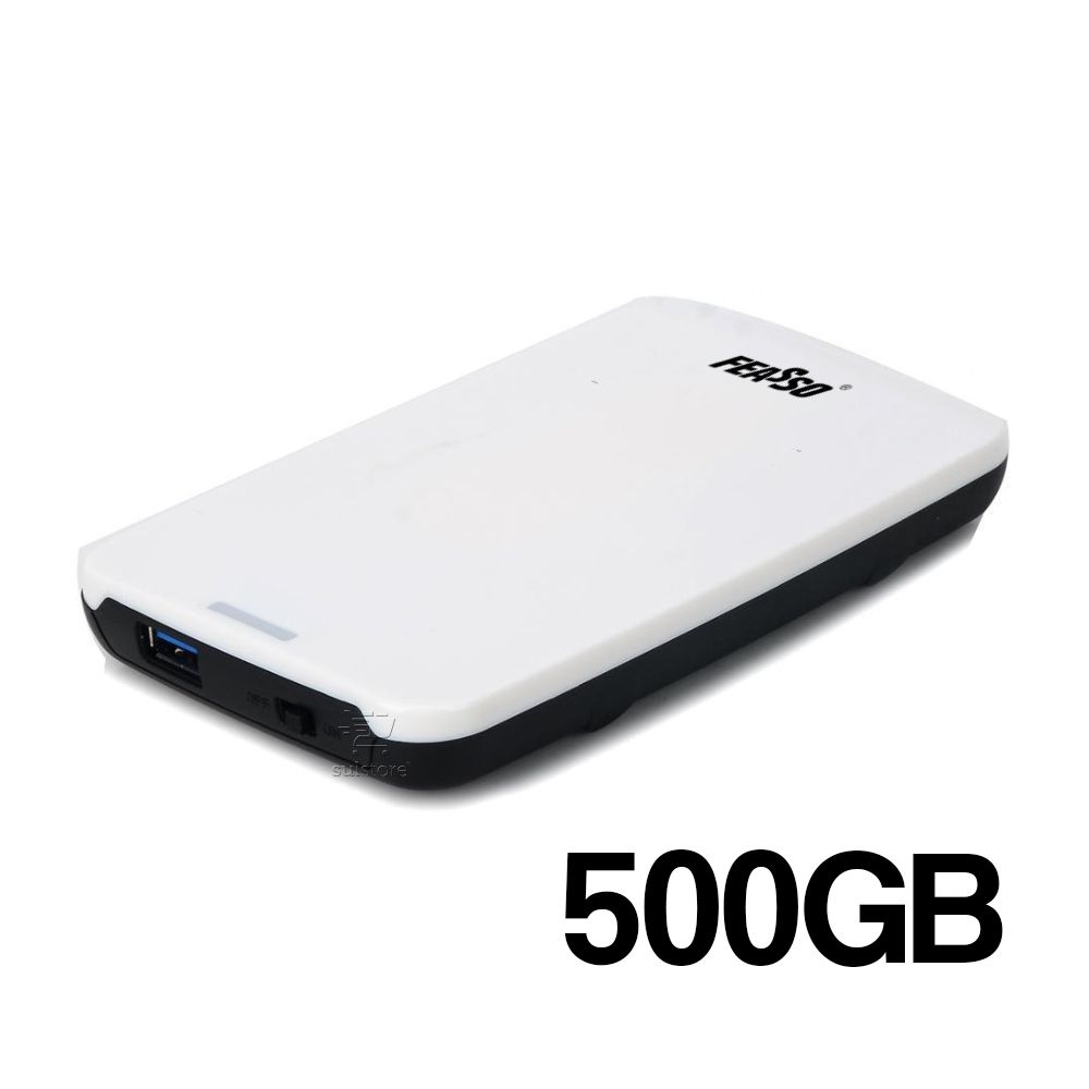 HD Externo montado 500GB USB 3.0 Branco