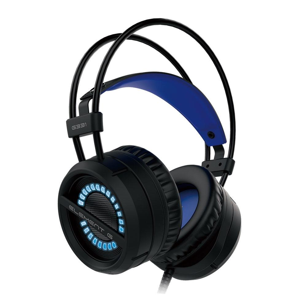 Headphone Gamer Element G Single Color, P2, Azul - G331